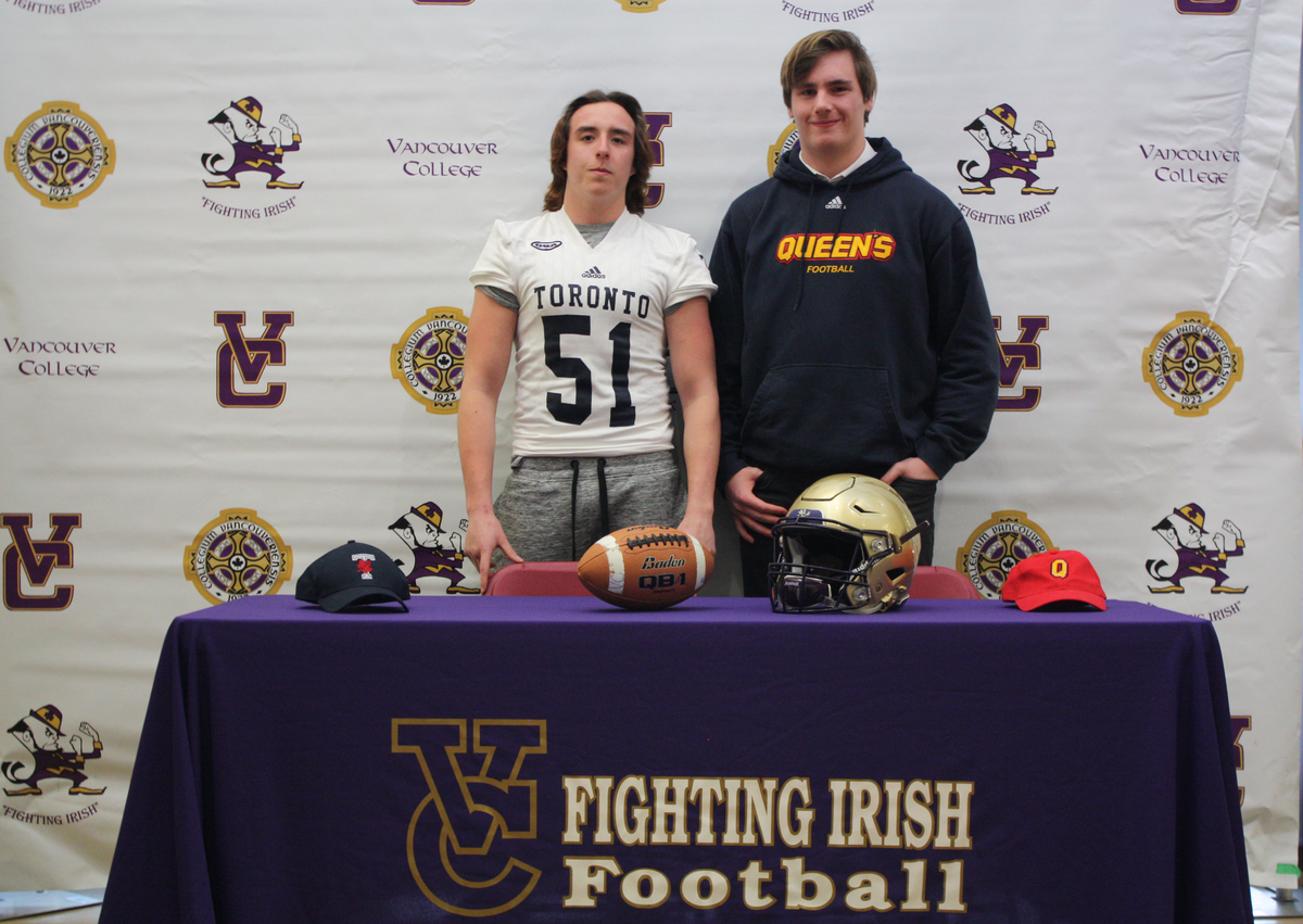 Two Irish Football Players Commit; Off to Ontario